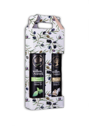 Willow Creek's Basil- and Garlic Flavoured Extra Virgin Olive Oil